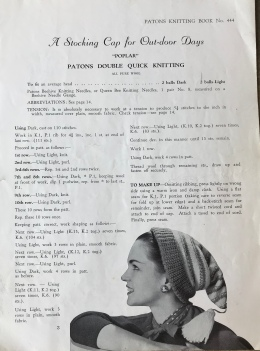 original Patons pattern